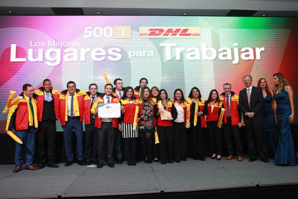 DHL Express fue reconocida como la mejor empresa de más de 500 empleados para trabajar en Colombia por Great Place to Work®